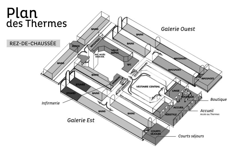 Plan des thermes